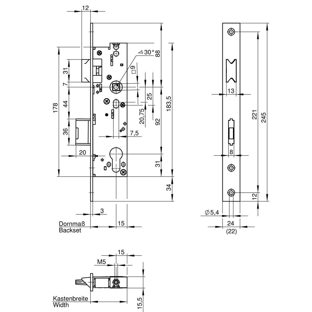 657z Emergency Exit Mortise Lock For Single Leaf Metal Frame Doors Diagram Electronic Canary Also Iso Din Connector Wiring Technical Drawingde De 011 Mb