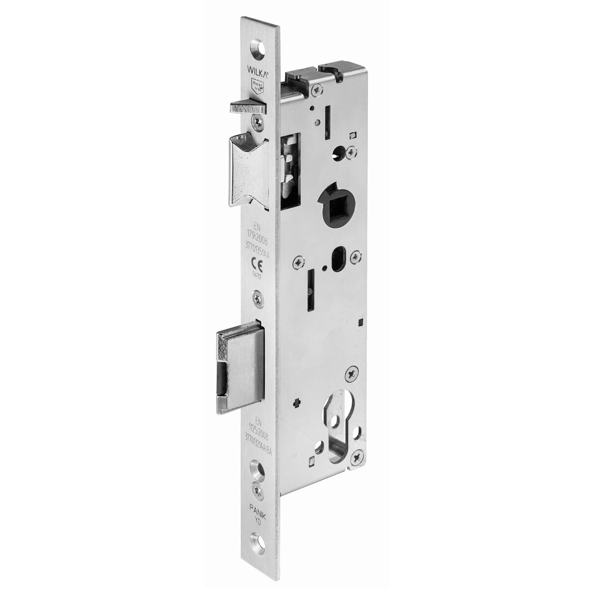 7677 Self-locking emergency exit mortise lock for single